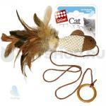 """Игрушка для кошек """"Рыбка дразнилка на палец с кольцом"""" (1шт) GIGWI"""